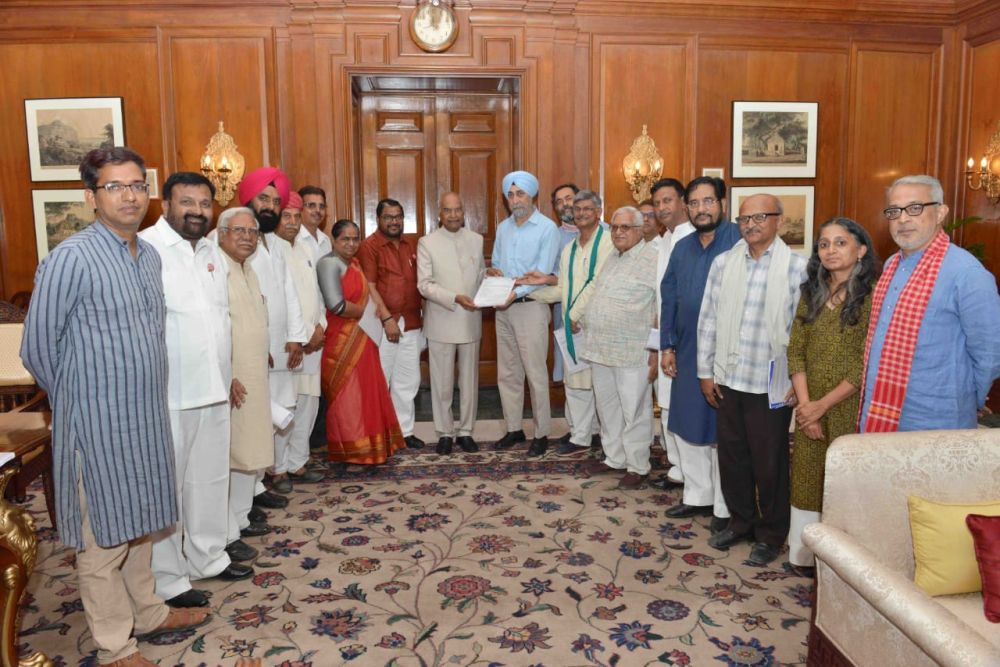 Farmers Bills: AIKSCC meets President for special Parliament session