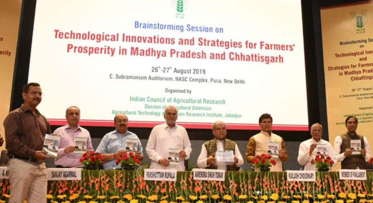Technological innovations for farmers' prosperity in MP & CG